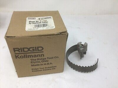 New Ridgid 62925 T-111 Spiral Sawtooth Cutter 3 Drain Snake In Box