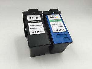 2PK Ink Cartridge for Lexmark 34 35 X5470 X5495 X7170 X7300 X7350 X8350 Z1300