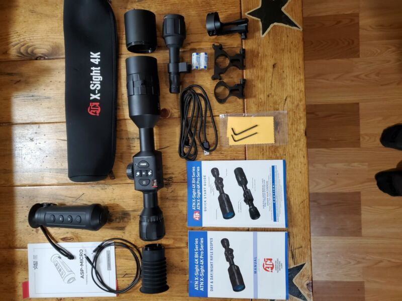 ATN X-sight 4k Pro 5-20x Scope & AGM thermal monocular combo