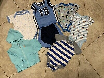 Lot of Seven Baby Boy Shorts Sleevless clothes 6 - 9 Months Shorts Light Jacket