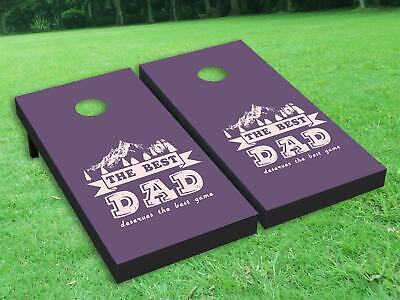 3 Colors The Best Dad Vinyl Cornhole Bag Toss Game Board Wraps Sticker Decal