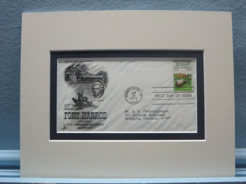 Fort Harrod - 1774 the first settlement in Kentucky & First Day Cover
