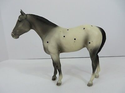 Breyer Molding Horse Figurine Gray White Semi-Dots #8031