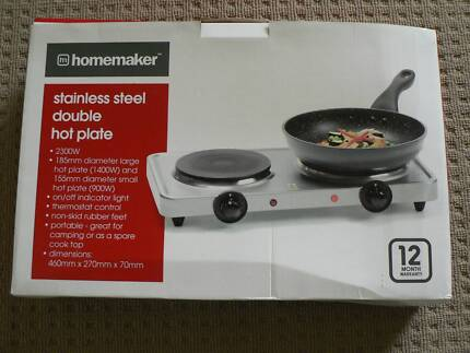 Electric Double Hotplate Hob