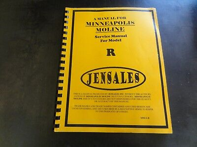 Minneapolis-moline Jensales R Service Manual  Mm-s-r