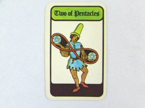 Vintage 1972 Hoi Polloi Tarot *Single Replacement Card* Two of Pentacles
