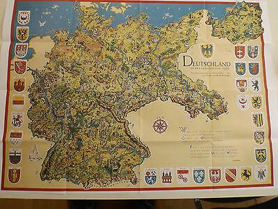 """Landkarte historische Schmuckkarte  """"Deutschland in den Grenzen von 1937"""""""