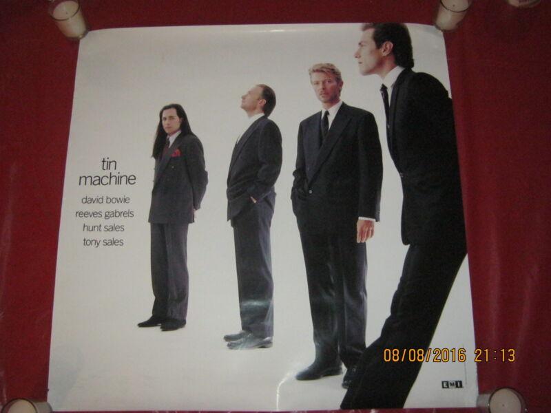 "DAVID BOWIE ""Tin Machine"" Album Promo Poster - Original 1989, NOT A RE-PRINT!!!"