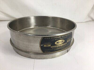 Stainless Steel Fisher Scientific No. 170 Usa Standard Testing Sieve 8 - Used