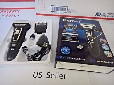 3 in 1 Rechargeable Beard Nose hair Cut Clipper Shaver Machine Kit Trimmer set