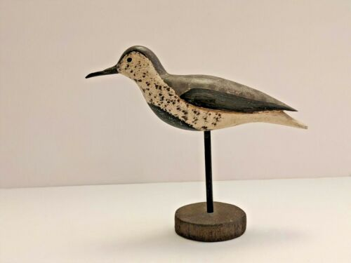 Vintage Wood Shorebird Decoy J Hamilton