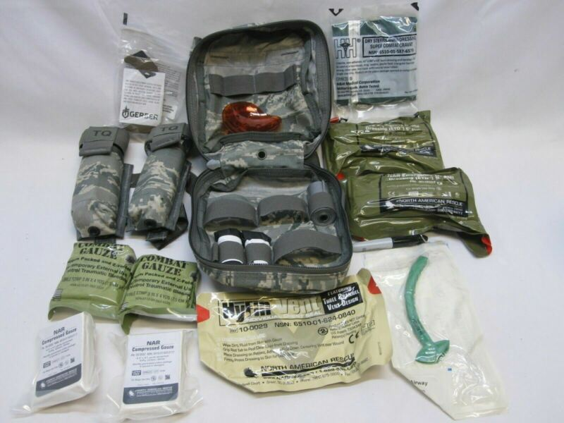 USAF FIRST AID KIT JFAK AIR FORCE CAT TOURNIQUET MEDICAL SUPPLY SET JOINT FORCE