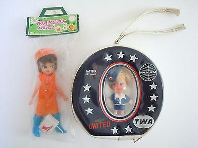 Kiddle Klone Doll Airline Purse Pan Am  Twa  United   Eastern   Northwest Doll