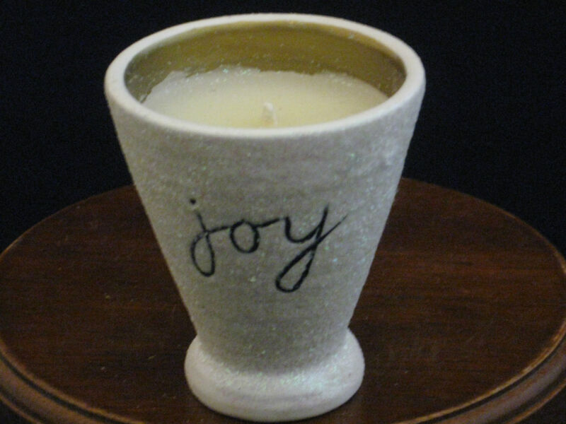 "Sandra Magsamen For Silvestri ""Joy"" Ceramic Candle"