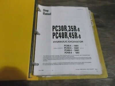Komatsu Pc30r-8 Pc35r-8 Mini Hydraulic Excavator Shop Service Repair Manual