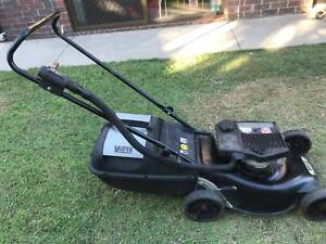 Victa 2 stroke lawnmower with catcher