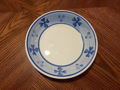 "New TRE CI Pottery White Blue Band Ceramic Bowl(s) 8 3/8"" Made in Italy"