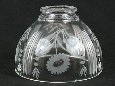 Center Cut Glass Daises Floral Ceiling Fan Light Fixture Shades Globes Cut Glass Ceiling Light