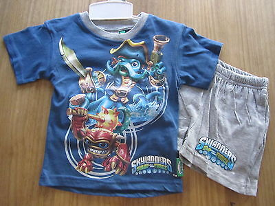 Force 2er Set T-Shirt Shorts kurze Hose Tank Top Pyjama (Skylander Baby)