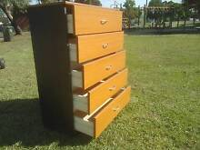 2 TONE 5 LEVEL TALLBOY*CHEST OF DRAWERS*CLEAN*BEDROOM STORAGE Cartwright Liverpool Area Preview