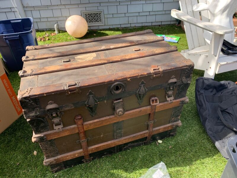 Antique Chest/trunk Purchased At The Alameda flee Market. Very Old And Authentic