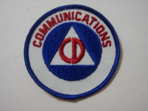 CIVIL DEFENSE PATCH - COMMUNICATIONS NOS :KY21-1