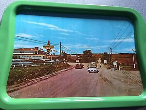 New Brunswick magnetic hill tin tray