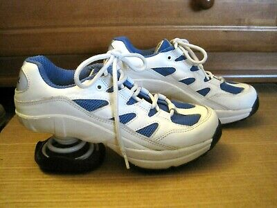 Z COIL Freedom SHOES Pain Relief Orthopedic Comfort BLUE & WHITE SNEAKERS 7 38!