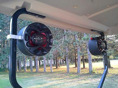 Golf Cart Stereo Speakers EZ GO Club Car Yamaha Radio Console Pods Enclosures - Golf-cart Stereo