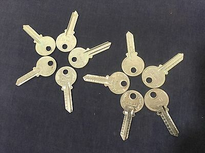 Cole International In1 Aluminum Key Blanks Set Of 10 - Locksmith