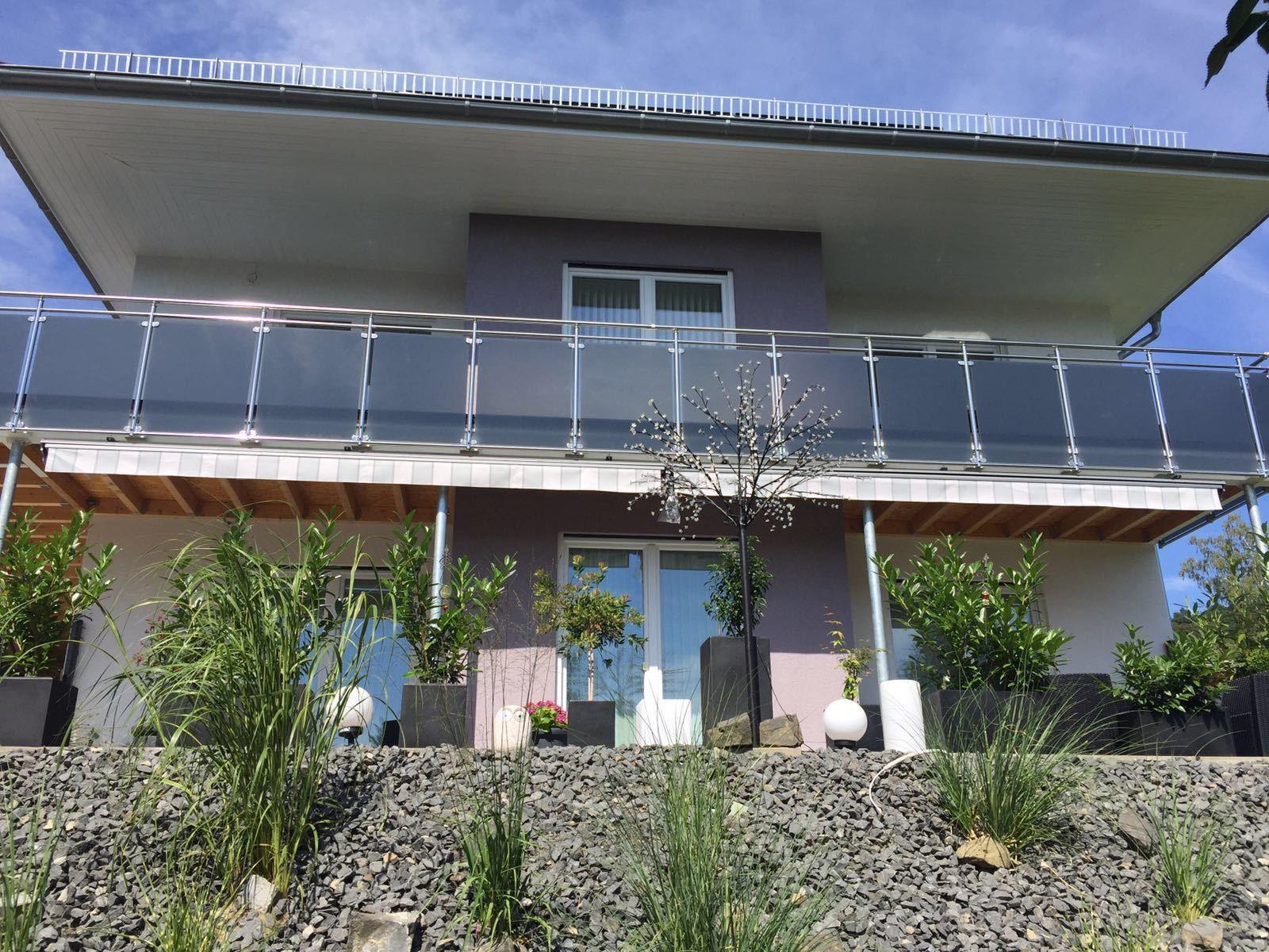 balkongel nder edelstahl vsg glas balkon gel nder eur. Black Bedroom Furniture Sets. Home Design Ideas