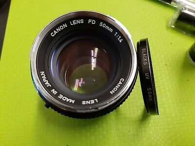 Usado, Canon Lens FD 50mm 1:1.4 made in Japan +filtro blacks uv 55mm comprar usado  Enviando para Brazil
