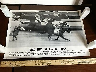 Illustrated Current News Hialeah Track Kentucky Jug Lord Date Jour Horse racing