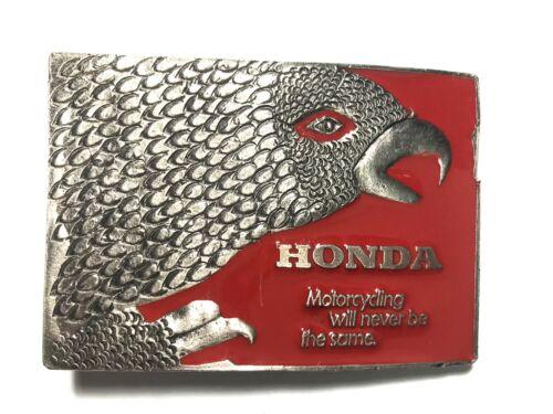 Vintage Honda Motorcycle Brass Belt Buckle Red Eagle