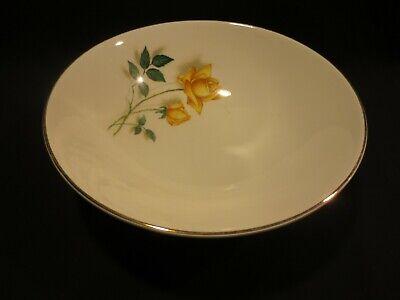 Canonsburg TEMPTATION (Yellow Rose) Round Vegetable Serving Bowl 8 Inch EUC Rose Round Vegetable Bowl