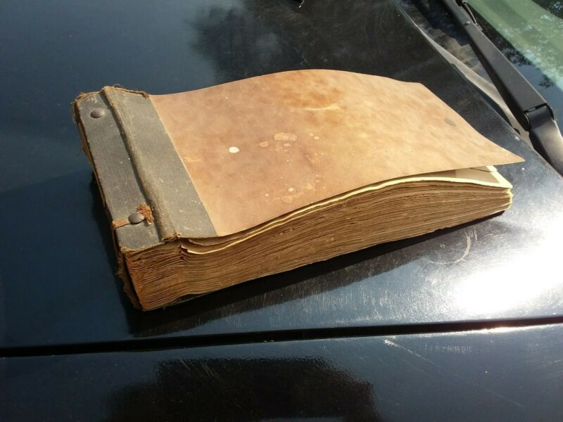 Antique 1912 Pharmacy Prescription Drug Book Medical History LA Cali Paper Ephem