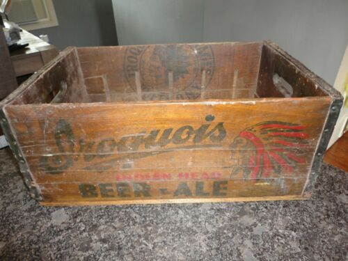 Vintage Iroquois Beer Buffalo New York Pre Prohibition Steinies Beer Wood Crate