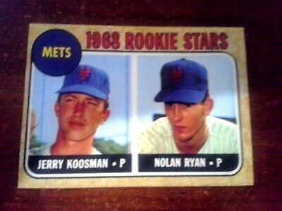 1968 ACEO  Nolan Ryan - ROOKIE - #177  New York Mets - Sharp..** 3 lot total **