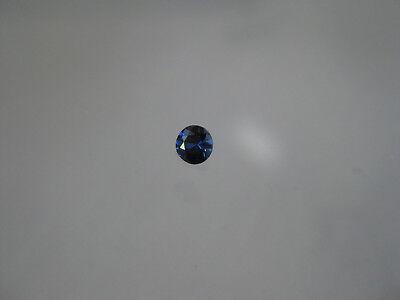 3.2 MM. Round Natural Royal Blue Sapphire Diamond Cut Weight .16 Carat Loose Gem