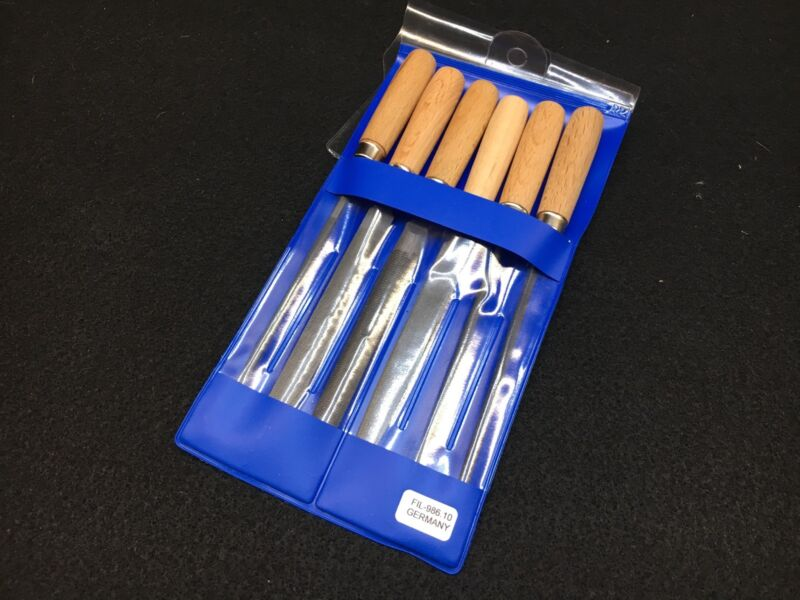 Key File Set 6 Piece With Hardwood Handle Made in Germany