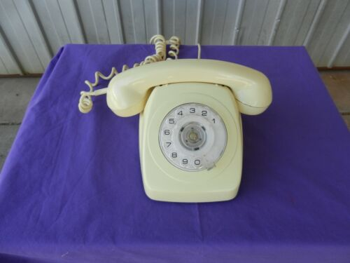 Home Rotary Dial Phone Cream / Ivory Telecom PMG - 1973 Vintage