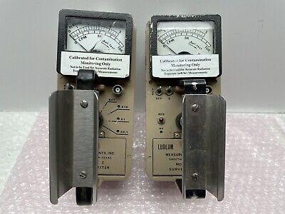 Pair Of Ludlum Model 2 Geiger Counter Survey Meter