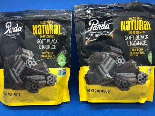 Panda NATURAL Soft Black Licorice 2 x 7 oz, Best Before 2022, FREE SHIPPING!