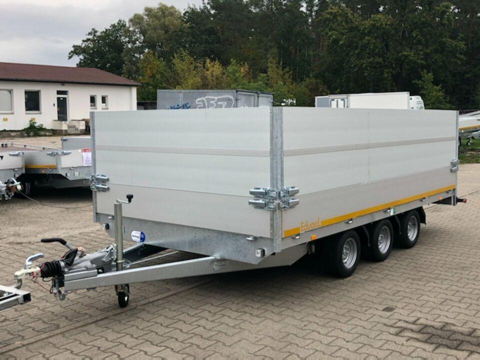 ⭐️ Eduard Pritsche 3500kg 406x220x100cm 3-Achser Alu Profi NEU 56 in Schöneiche bei Berlin