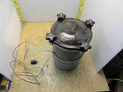 Heat Regulated Pressure Pot W Thermocouple Dental Curing Heated 3b-28