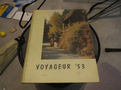 1953 LEWIS AND CLARK COLLEGE YEARBOOK, THE VOYAGEUR, PORTLAND, OREGON