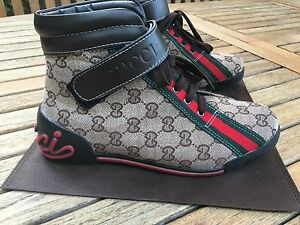 Gucci Men's High-Top GG Canvas Sneakers (Size 8/40)