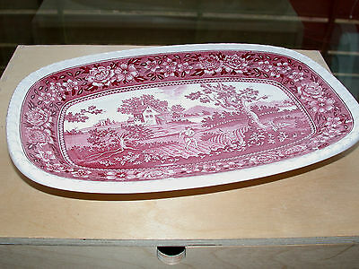 RUSTICANA rot 1 ovale Servierplatte 30 cm