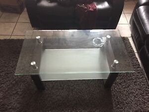 3 pc leather sofa set with coffee table