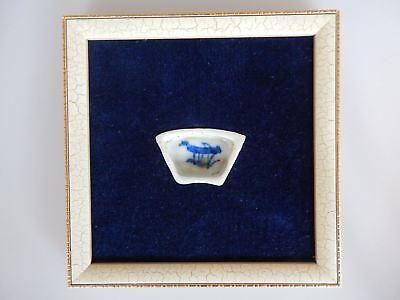 Chinese Cricket Feeding Dish Porcelain 19th 20th Century